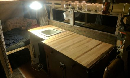 Butcher Block School Bus Countertops