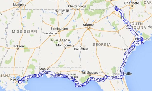 Week One Recap – 1,300 Miles – Started in Asheville, NC and Ended in New Orleans, LA